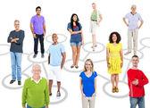 Lidé spojení motivem obrázku — Stock fotografie