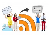 Group of People Social Networking — Stock Photo