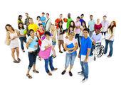 многоэтническая группа людей — Стоковое фото