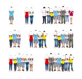 Group of People Holding Board — Stock Photo