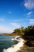 Lighthouse on Coastline at Kovalam — Stock Photo