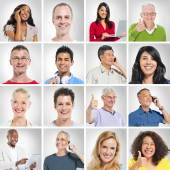 Multi ethnic people posing — Stock Photo