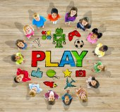 Group of Children and Play Concept — Stock Photo