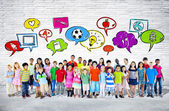 Large Group of Student Standing — Stock Photo