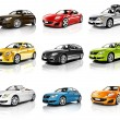 Collection of 3D Cars — Stock Photo #59926425