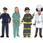 Children Wearing Future Job Uniforms — Stock Photo #59927775