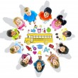 Group of Children and School Concept — Stock Photo #59928263