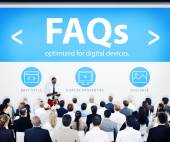 Business People at Seminar FAQs — Stock Photo