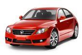 Red smart car — Stock fotografie