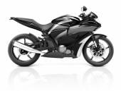 Black Modern Motorbike — Stock Photo