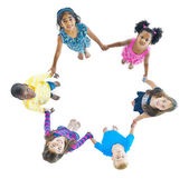 Children Holding Hands — Stock Photo