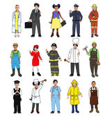 Children in Dreams Job Uniform — Stock Photo