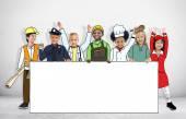 Children in Dreams Job Uniform — Stock Photo