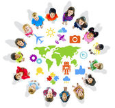 Multi-Ethnic Children with World Concepts — Stock Photo
