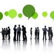 Business people with speech bubbles — Stock Photo #59930177