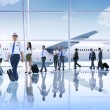 Business People with Airplane — Stock Photo #59931571