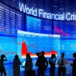 People Discussing About World Financial Crisis — Stock Photo #59932009