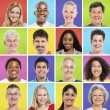 Colourful Grid with facial expressions — Stock Photo #59939695