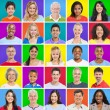 Colourful Grid with facial expressions — Stock Photo #59939841