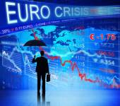 Businessman on Euro Crisis — Stock Photo