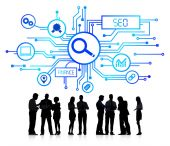 Business People and SEO Concepts — Stock Photo