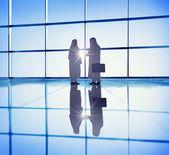 Businessmen Handshaking in Office — Stock Photo
