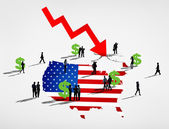 Business people and America Recession — Stock Photo