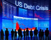 People discussing about US debt Crisis — Stock Photo