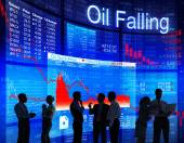 Business people discussing about Oil Crisis — Stock Photo