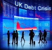 Business People and UK Debt Crisis — Stock Photo