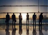 Business People Standing at Boardroom — Stock Photo