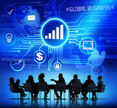 Business People and Global Business Concepts — Stock Photo
