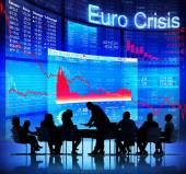 Euro CrisisBusiness People and Euro Crisis — Stock Photo