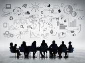 Obchodní lidé diskuse — Stock fotografie
