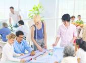 Group of Designer in the Office — Stock Photo