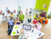 Group of Students in the Classroom — Stock Photo