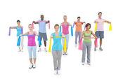Multi-Ethnic People Exercising — Stock Photo