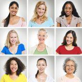 Multi-Ethnics People's portraits — Stock Photo