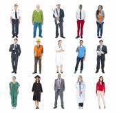 Multiethnic Diverse Mixed Occupation People — Foto de Stock