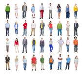 Multi-etnisch diverse kleurrijke mensen — Stockfoto