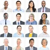 Business People Corporate Set of Faces Concept — Stock Photo