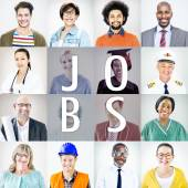 Diverse People with Different Jobs — Stock Photo