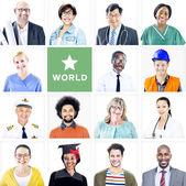 Multiethnic Mixed Occupation People — Foto de Stock