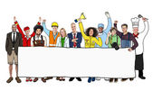 Multiethnic People with Different Jobs — Stock Photo