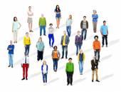 Multiethnic Diverse Cheerful People — Stock Photo