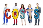 People Holding Costs Letter — Stock Photo