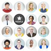 Diverse Multiethnic Cheerful People — Stock Photo