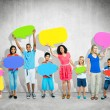 People with speech bubbles — Stock Photo #59956835