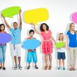 People with speech bubbles — Stock Photo #59956841