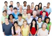 Large Group of People — Stock Photo